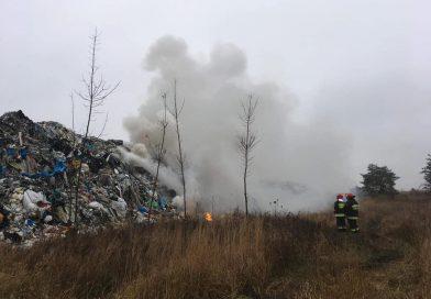 Strażacy z Wolsztyna pojechali gasić wysypisko do Pyszącej!