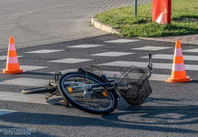 Potrącenie rowerzystki. Kobieta trafiła do szpitala!