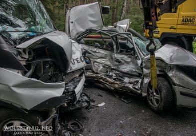 5 osób, w tym 2 dzieci poważnie rannych po wypadku! W akcji 4 karetki i śmigłowiec LPR!